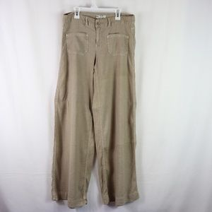 FREE PEOPLE LINEN BLEND FLARE PANTS SIZE 27